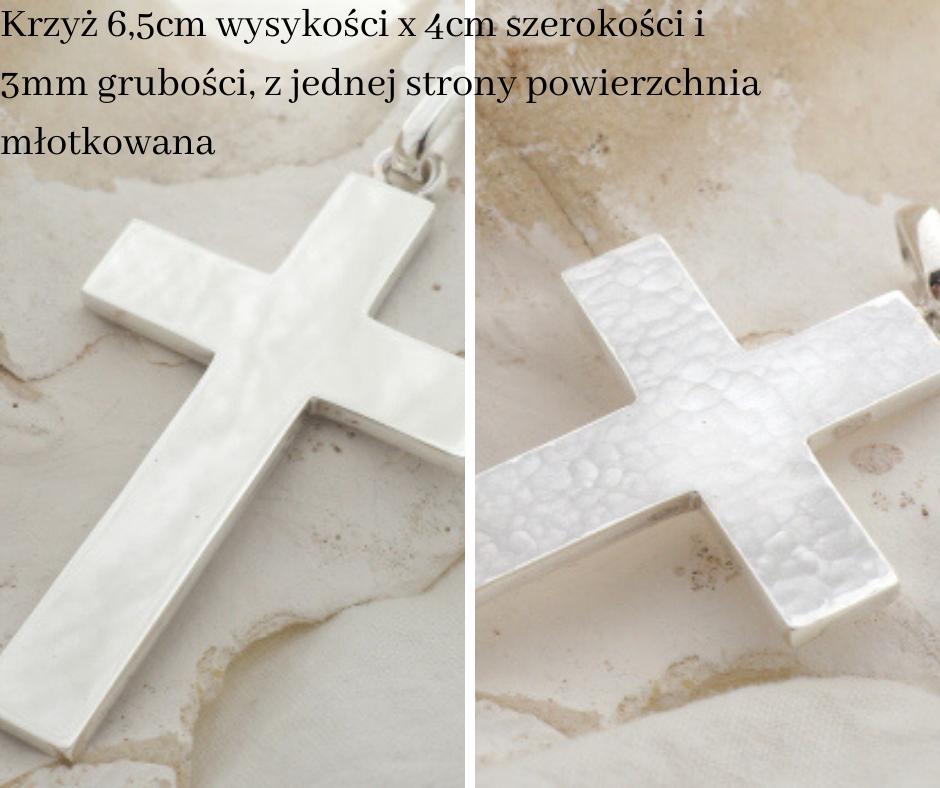 srebrny krzyż na zamówienie