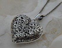 SERCE - srebrny wisior serduszka